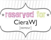CieraWJ: Payment for Custom Modern Floral Wedding Invitations