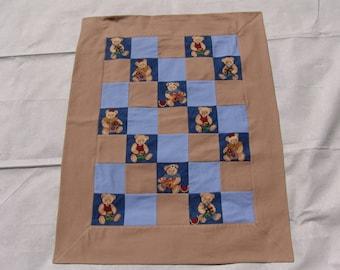 Baby Blanket - vintage teddies
