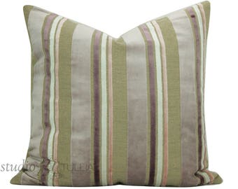 Lavender Velvet - Designers Guild - Lilac Velvet Pillow Cover - 20 inch - Rose Quartz - Designer Pillow Cover - pastel - ready to ship