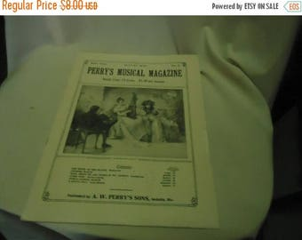 Ephemera & Books 50% Sale Vintage 1930 Perry's Musical Magazine Sheet Music, August, no 5, collectable
