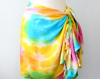 Batik sarong beach cover up swimsuit coverups fringe pareo tie dye boho clothing bathing suit coverup beach wrap boho scarf bohemian vest