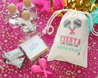 FIESTA like there's no MANANA! - Personalized Favor Bags - Set of 10 - Bachelorette Party - Wedding Shower - MEXICO