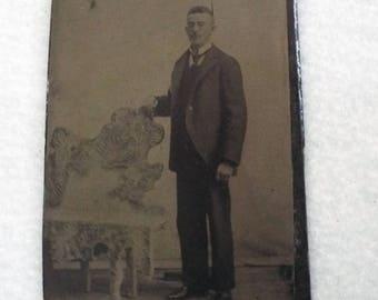 Antique Tintype Photograph - Gentleman