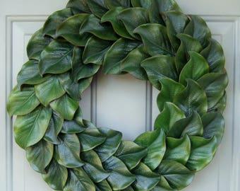 Summer Wreath - Wreath for Summer Door - Magnolia Wreath