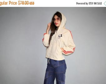 On SALE 45% Off - Vtg 90s Graphic Mickey  Minnie Mouse Canvas Hooded Embroidered Jacket  -  1990s Vintage Hoodie Jacket  -  Vintage Vetement