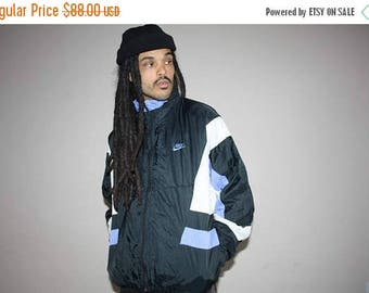 On SALE 35% Off - 90s Vintage Nike Colorblock Hip Hop Windbreaker Jacket - 1990s Nike - 90s Clothing - MV0085