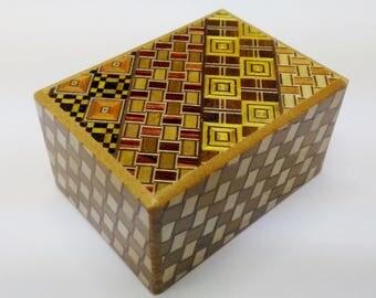 Japanese Puzzle box (Himitsu bako)- 3.5inch (90mm) 7 steps Yosegi/Kuzushi
