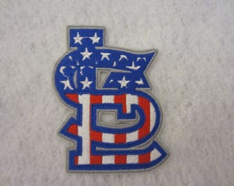 STL Cardinal Iron On Patch, STL Patriotic Cardinal Patch, Iron On Patch, Iron On Applique, St. Louis Cardinal Iron On Patch