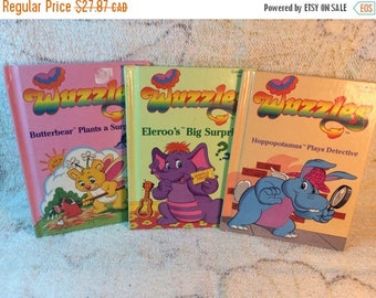 SUMMER SALE 1980s Wuzzles Books Childrens Picture Books - Set of 3 Hasbro Bradley 1984