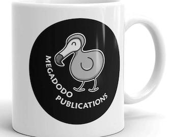 Megadodo Publications Ceramic Mug - of Ursa Minor Beta - Hitch Hikers Guide To The Galaxy - h2g2 mug