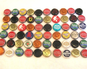 60 Mixed Bottle Caps Lot, No Dents, For Crafts, Art Projects, Destash Supplies