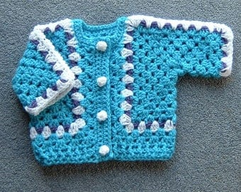 Baby crochet cardigan (ref 006)