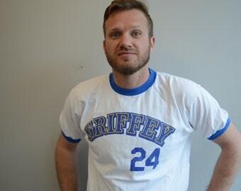 Vintage Ken Griffey Jr Number 24 Mariners Tee shirt