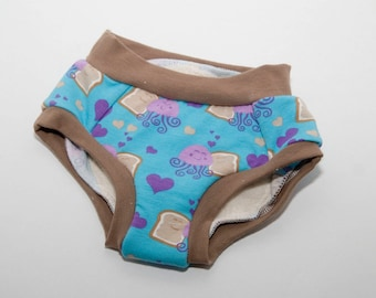 Peanut Butter and Jellyfish Cloth Training Pants - Training Undies - 18 months to 4t