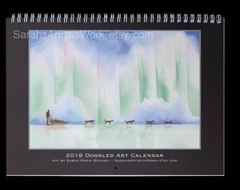 2018 Dogsled Calendar! All artwork by Sarah Marie Bevard