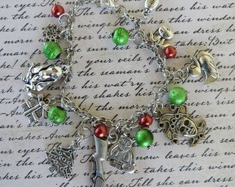 Christmas Story Movie Themed Charm And Bead Bracelet