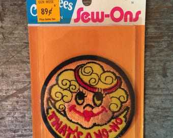 Vintage Niftees Sew-Ons Patch That's a No-No