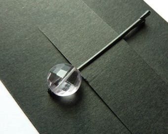 Light Purple Amethyst Bobby Pin - Gemstone Bobby Pin - Aquarius - February Stone
