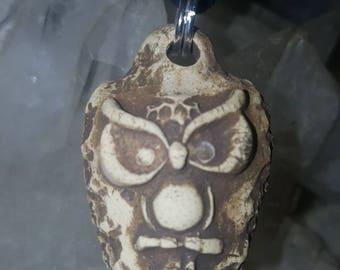 Owl #4 Essential Oil Diffuser Necklace