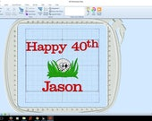 Golf Towel, Happy 40th Birthday, Grandparent Gift, Custom Personalize With Name, Grampa, Dad, Pop,  No Shipping Fee, Ships TODAY, AGFT 1092