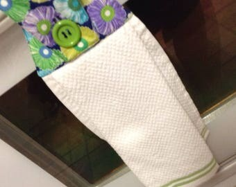 Hanging Kitchen Towel with Fabric Topper
