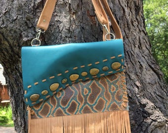 Convertible Crossbody/clutch Leather Bag