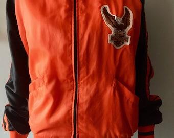 Vintage original  HARLEY DAVIDSON track jacket eagle patch