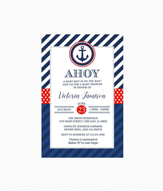 Nautical baby shower invitation boy baby shower invitation little il570xn filmwisefo Images