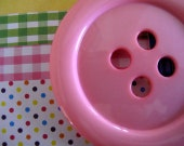 """Giant 3.5"""" Baby Pink Button- 85mm Button- Large Plastic Button"""