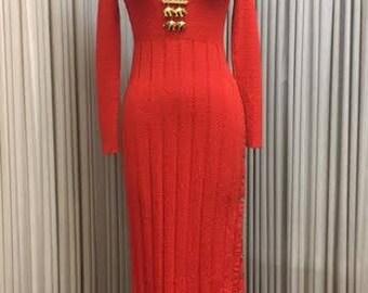 1970's knit Maxi Dress