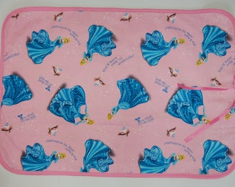 Waterproof Quilted Changing Pad made from Cinderella fabric