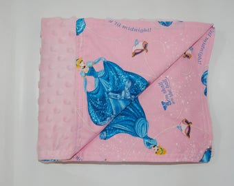 Minky blanket made from Cinderella fabric