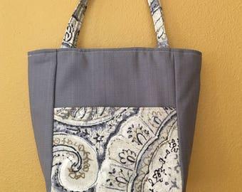 Lisa#1631, Small Project Tote, Small Knitting Bag, Project Bag, Knitting Bag, Small Projects, Small Knitting Projects, Handbag, Crochet Bag