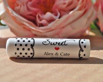 Lip Balm Labels Wedding Favor, Wedding Favors, Bridal Shower Favors, Bachelorette Party, Engagement Party Favors - Set of 24 Labels