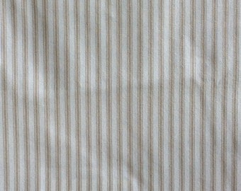 CLASSIC TICKING Neutral linen and White multipurpose fabric