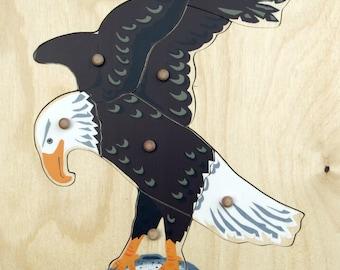 Montessori Bald Eagle Wooden Puzzle