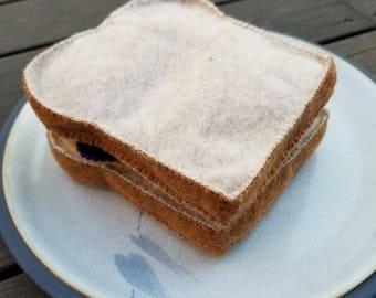 Felt Peanut Butter and Jelly Sandwich