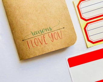 Reasons I Love You, Valentines Day Card, Deployment Gift, Birthday Card, Anniversary Card, Things I Love, Wedding Anniversary, Love Card