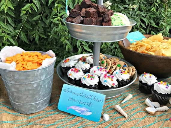Under the Sea Party Table Food Signs