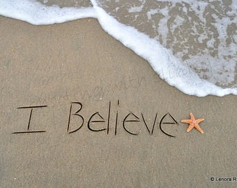 I Believe, Writing in the Sand, Instant Download