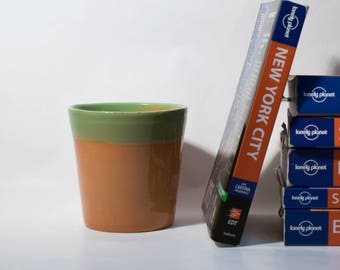 Green and orange mug