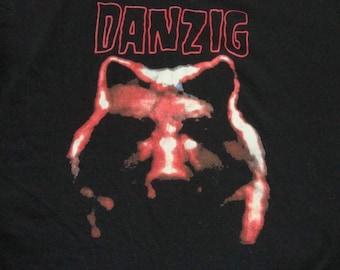Vintage 90's DANZIG Lucifuge wolf RARE punk rock Concert tour heavy metal Misfits T Shirt L