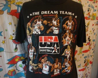 Vintage 90's 1992 USA Olympics Basketball NBA Dream Team T Shirt Sz XL