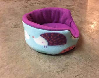 PREMADE Fleece Round Cuddle Cup for Guinea Pig Hedgehog Rat Small Animals