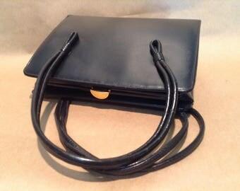Vintage Classic Black Handbag by Susan Gail