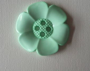 Extra Large Flower Button -Mint green - pale green