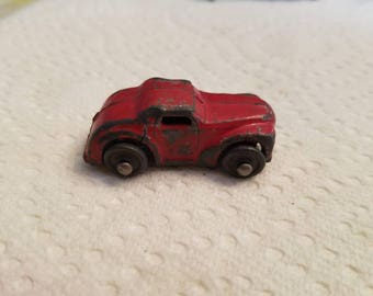 Vintage Small Red Lead Car 1940s Barclay