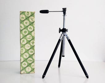 Vintage Rainbow Camera Tripod - tall telescoping tripod