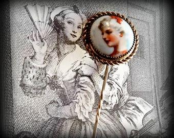 Elegant Lady Enamel Stick Pin