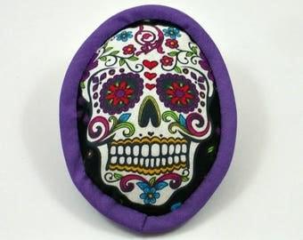 Catnip Sugar Skull, Day of the Dead Cat, Dia de los Muertos, Calavera, Halloween Cat Toy, Catnip Skulls, Skull Cat Pillow, SUGAR SKULL